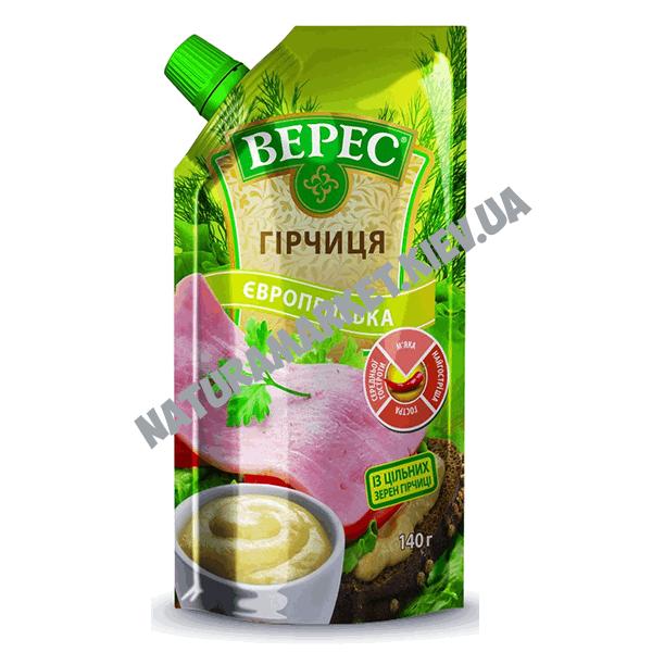 Купить горчицу европейскую Верес 140г в Киеве