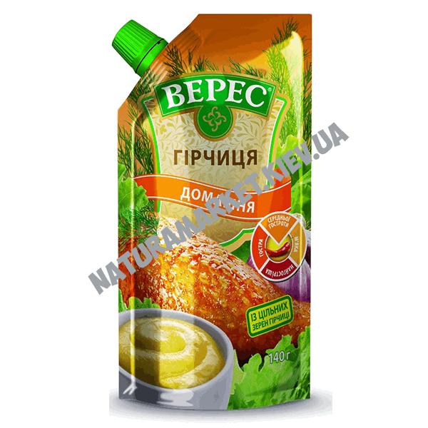 Купить горчицу домашнюю Верес 140г в Киеве